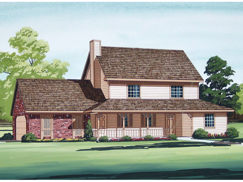 Country House Plan Front of Home - 020D-0102 | House Plans and More