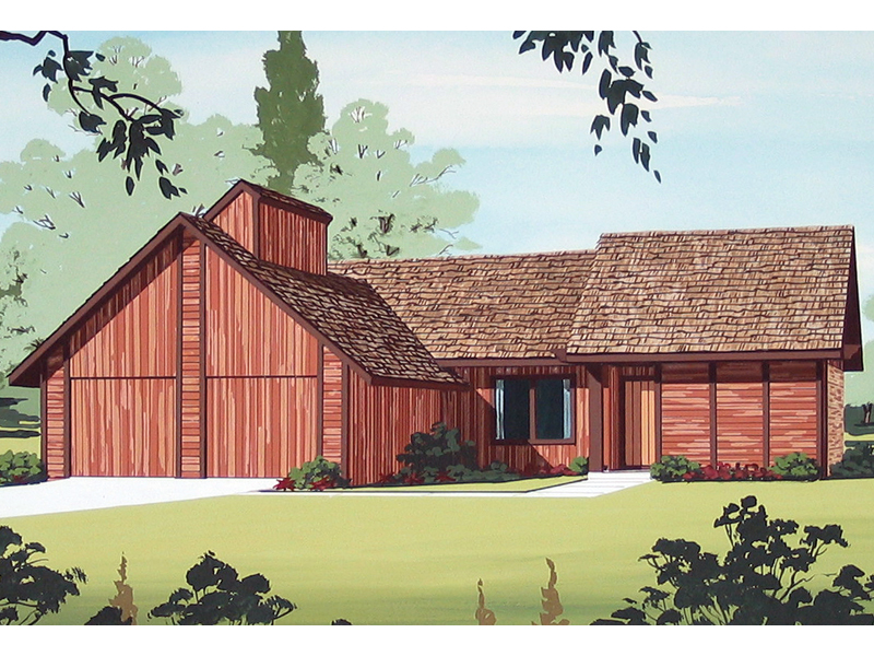 Ranch House Plan Front of Home - 020D-0103 | House Plans and More