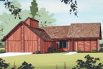 Rustic Home Plan Front of Home - 020D-0103 | House Plans and More