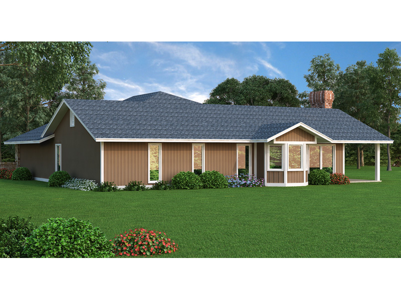 Tudor House Plan Rear Photo 01 - 020D-0116 | House Plans and More