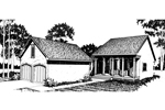 Cabin and Cottage Plan Front Image of House - 020D-0126 | House Plans and More
