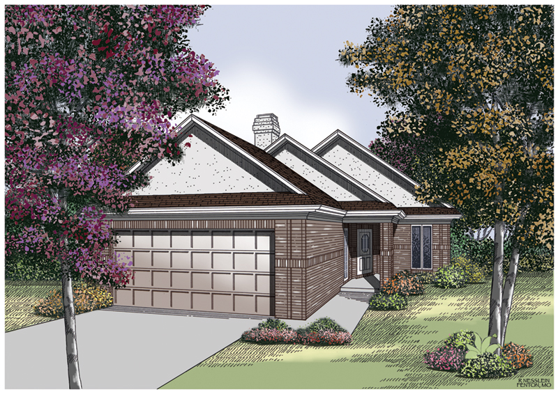 Traditional House Plan Front of Home - 020D-0129 | House Plans and More