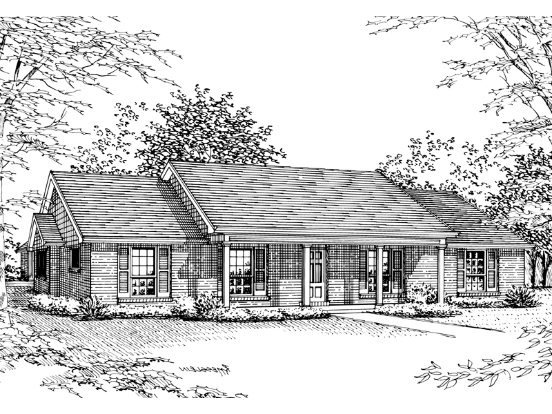 Country House Plan Front of Home - 020D-0154 | House Plans and More