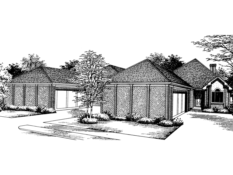 Sumpter narrow lot home plan 020d 0164 house plans and more for Narrow house plans with front garage