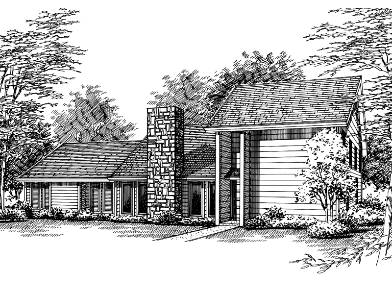 Traditional House Plan Front of Home - 020D-0167 | House Plans and More