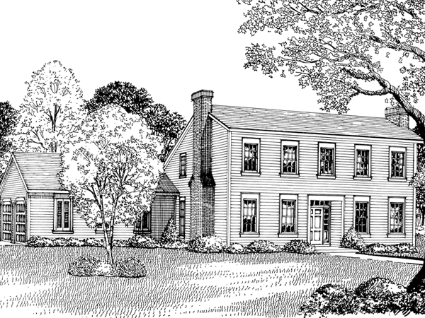 Callahan early american home plan 020d 0182 house plans Early american home plans