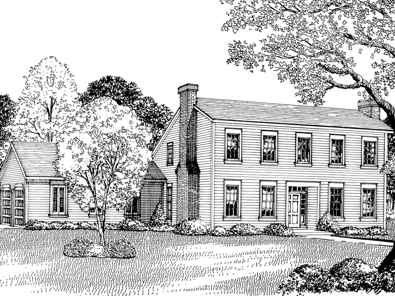 Callahan early american home plan 020d 0182 house plans for Early american house plans