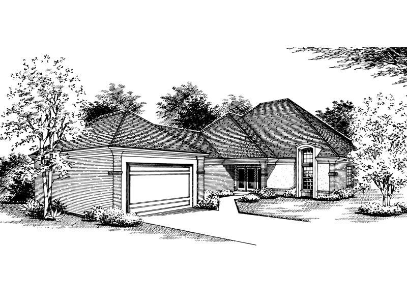 Traditional House Plan Front Image of House - 020D-0185 | House Plans and More
