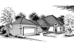 Ranch House Plan Front Image of House - 020D-0185 | House Plans and More