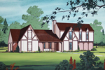 Steep Gables Magnify This Homes Distinct Tudor Style