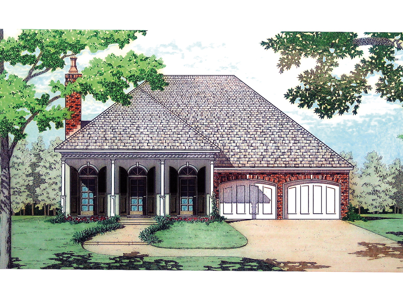 Ranch House Plan Front Image - 020D-0195 | House Plans and More