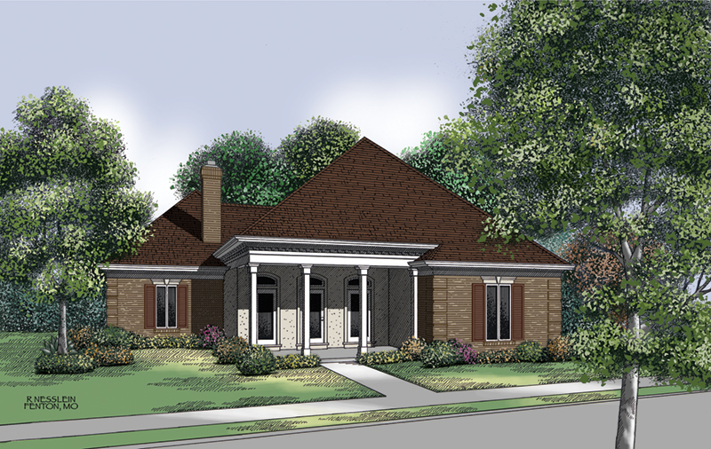 Ranch House Plan Front of Home - 020D-0198 | House Plans and More