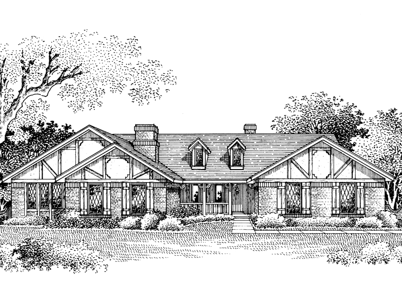Beams And Dormers Decorate This Ranch