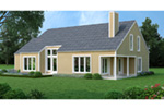 Contemporary House Plan Rear Photo 01 - 020D-0206 | House Plans and More