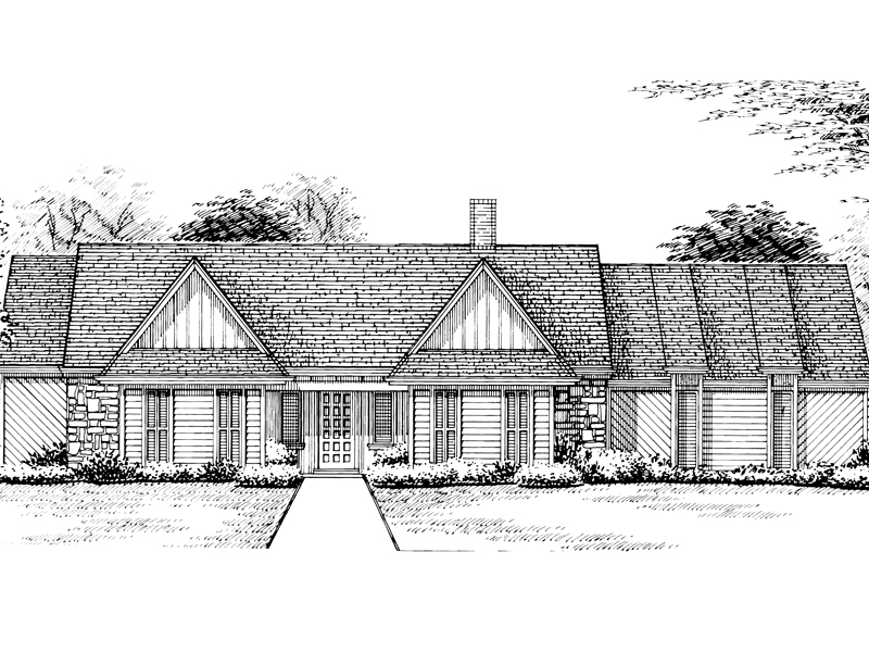 Traditional House Plan Front of Home - 020D-0208 | House Plans and More