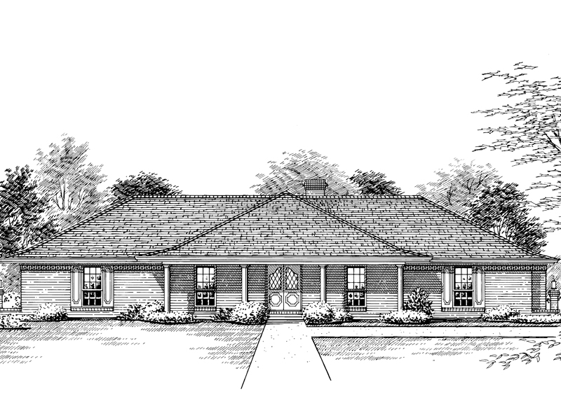 Great Symmetrical Brick Ranch Home