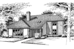 Traditional House Plan Front Image of House - 020D-0229 | House Plans and More