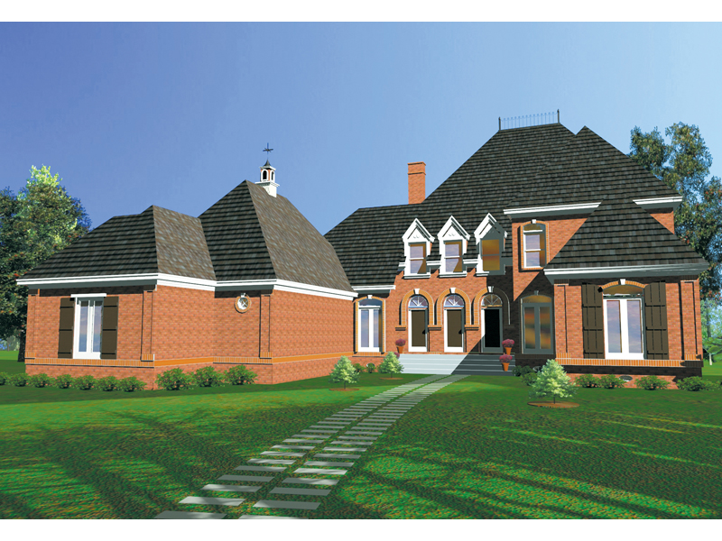 Colonial House Plan Front of Home 020D-0234
