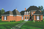 All Brick European Two-Story With Uncommon Style