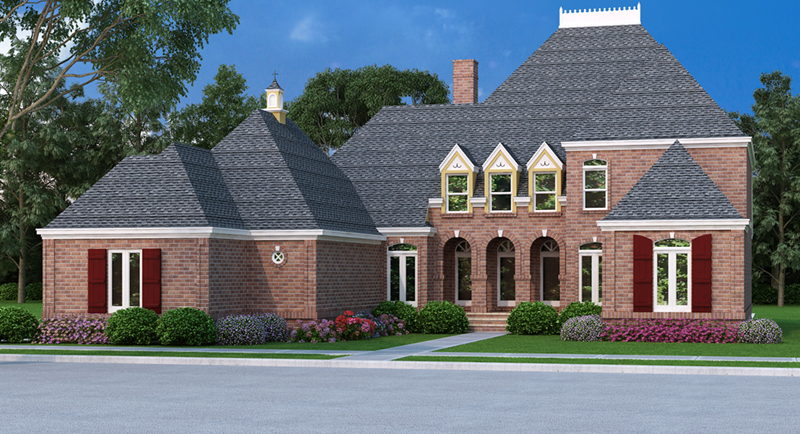Luxury European Style Home With Beautiful Dormers And Windows