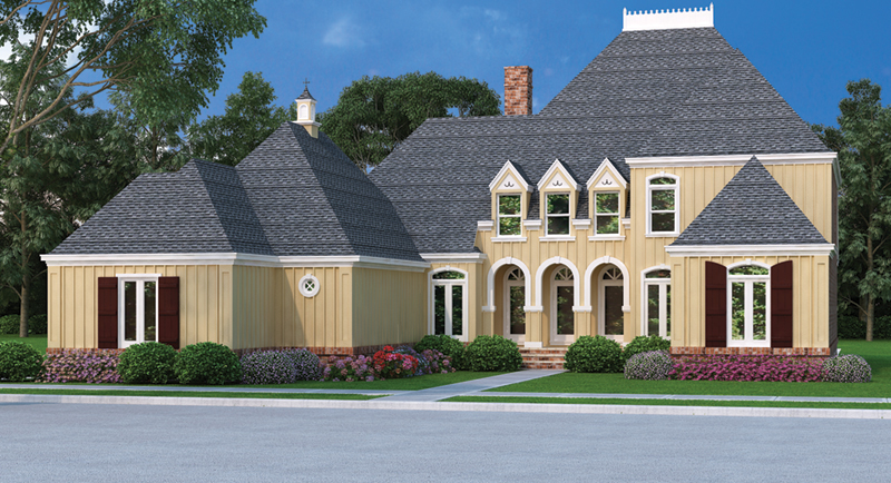 Classy European Two-Story With Great Curb Appeal