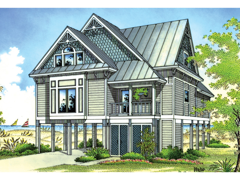Caspar Beach Coastal Home Plan 020D 0250 House Plans and More