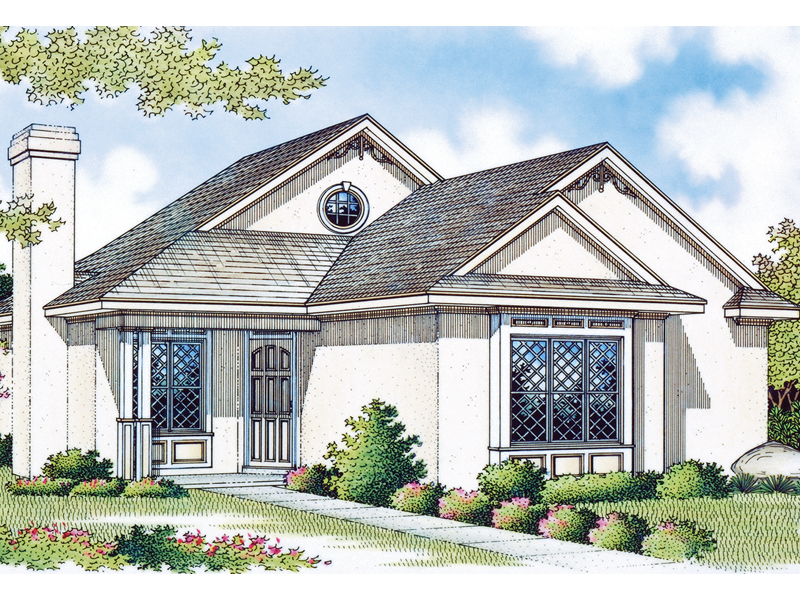 Simple Stucco Ranch Perfect For A Narrow Lot