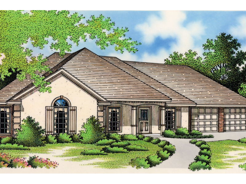 Rustic Home Plan Front of Home - 020D-0263 | House Plans and More