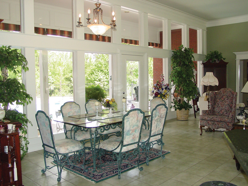 Traditional house plan dining room photo 01 plan 020d 0266 for Dining room no windows