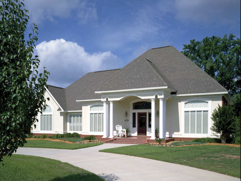 Elegant European Style Stucco Single-Story Home