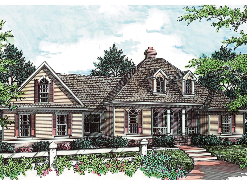 Ranch House Plan Front Photo 02 - 020D-0267 | House Plans and More