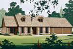 Rustic Ranch With Twin Dormers