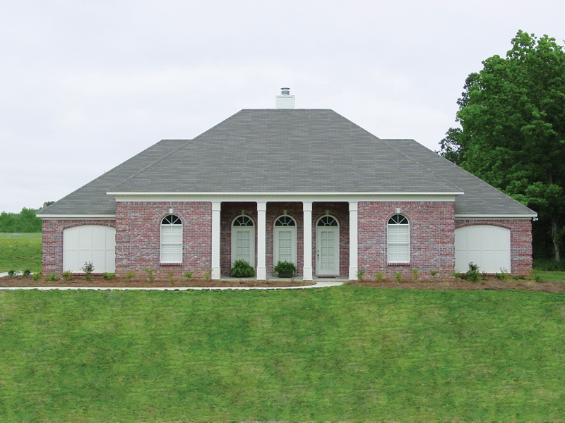 European House Plan Front of Home 020D-0284