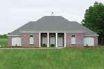 Stately Brick And Columns Decorates The Faade