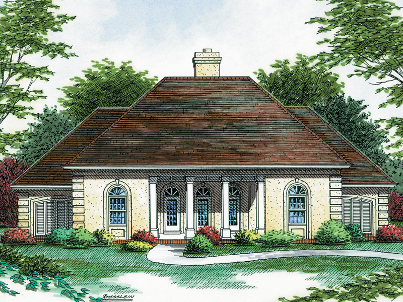 European House Plan Front of Home - 020D-0285 | House Plans and More