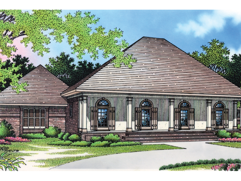 Ranch House Plan Front of Home - 020D-0291 | House Plans and More