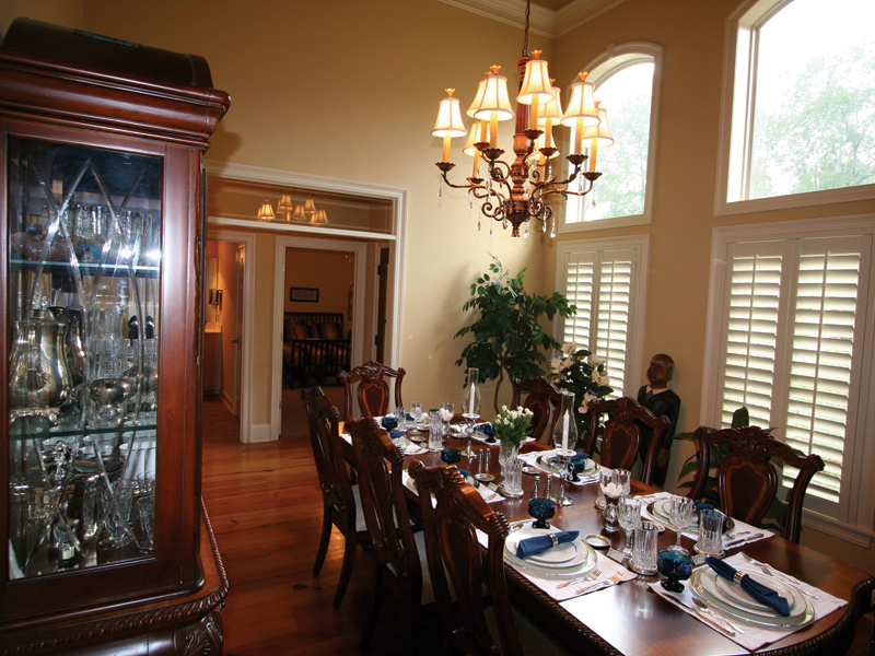 Country French Home Plan Dining Room Photo 01 020D-0295
