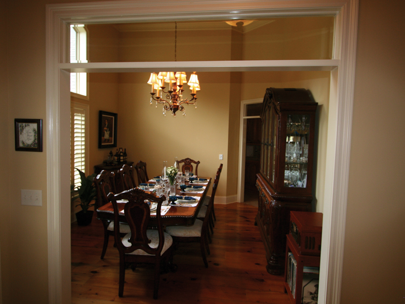 European House Plan Dining Room Photo 02 020D-0295