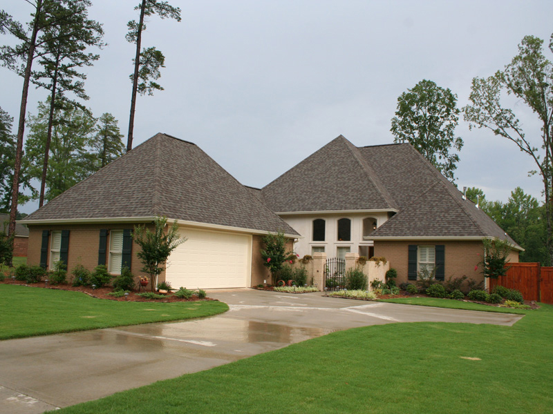 Country French Home Plan Front of Home 020D-0295