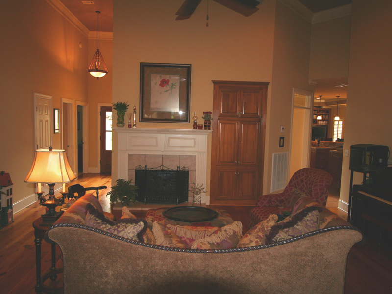 Country French Home Plan Living Room Photo 01 020D-0295