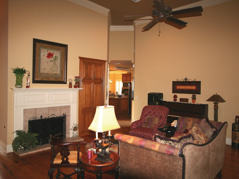 Country French Home Plan Living Room Photo 03 020D-0295