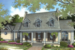 Wonderful Curb Appeal Created With Porch And Dormers