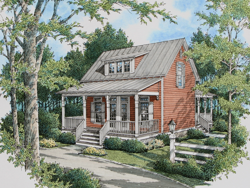 Acadian House Plans With Front Porch
