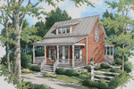 Bungalow Styled Acadian With Deep Front Porch