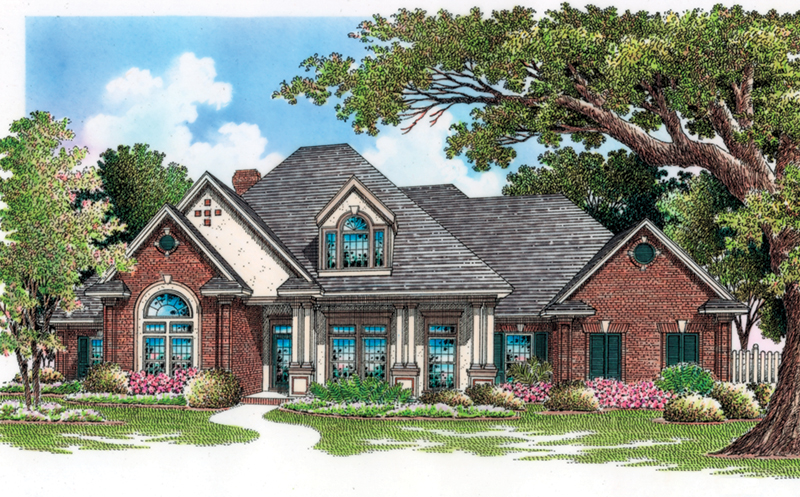 Striking Roof Lines Create Southern Charm