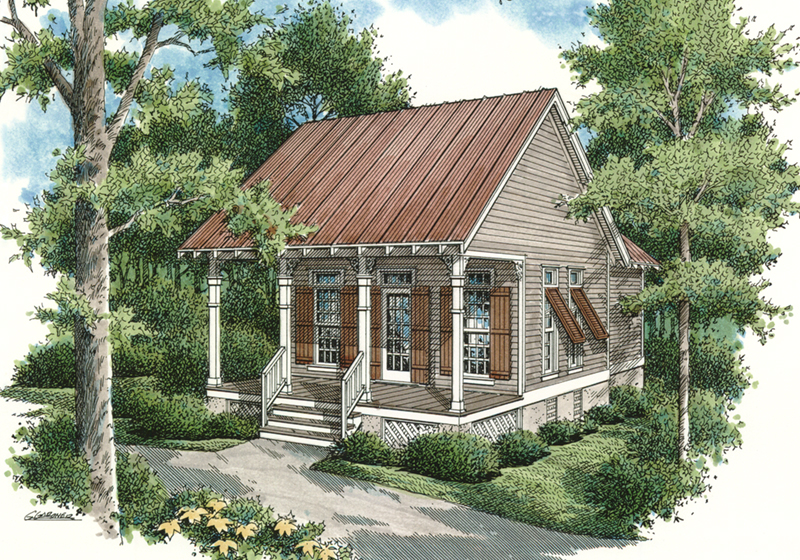 Rustic Country Style Cabin With Porch