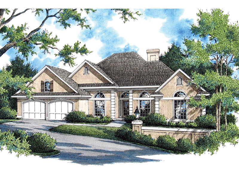 Tudor House Plan Front of Home - 020D-0335 | House Plans and More