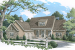 Ranch House Plan Front of Home - 020D-0341 | House Plans and More