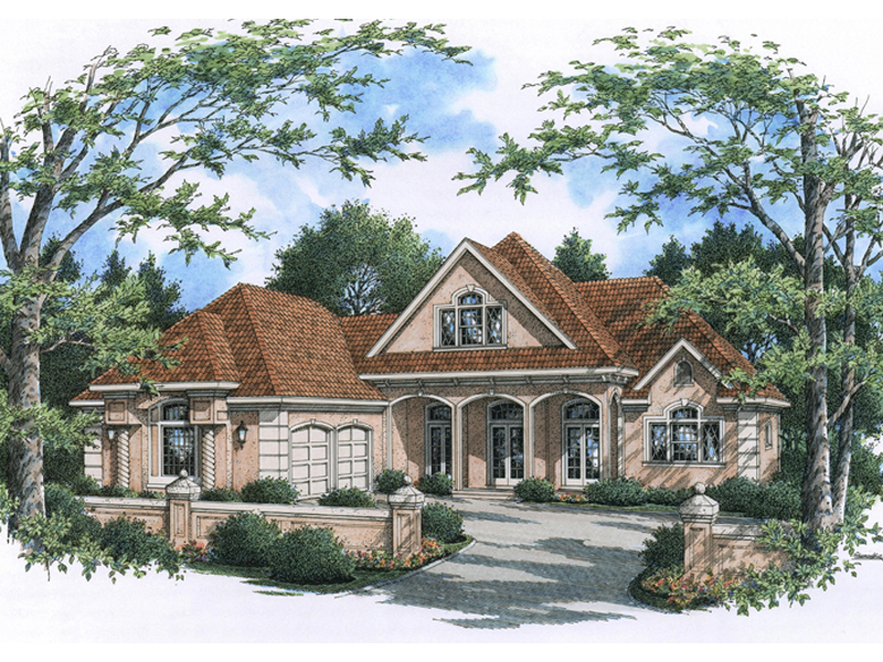 Ranch House Plan Front of Home - 020D-0342 | House Plans and More