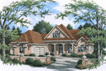 Sunbelt Home Plan Front of Home - 020D-0342 | House Plans and More